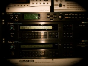 A photo I took of part of my audio rack.  You can see 1 Roland SC-880 and 2 Roland D-550s.