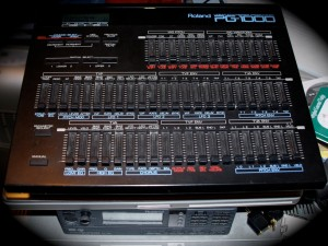 A photo of my Roland PG-1000 Programmer.  A tool for the D-550s