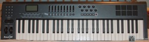 The M-Audio Axiom 61 MIDI Controller Keyboard