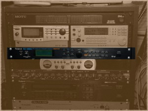 My Roland SC-880 in the audio rack.